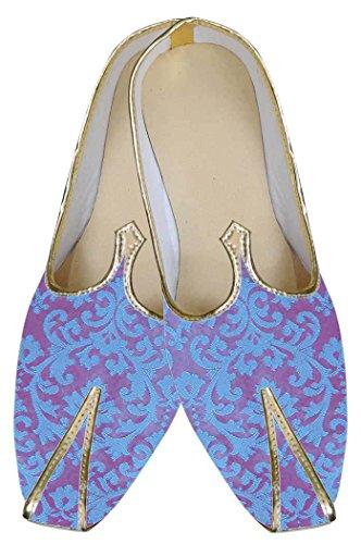 INMONARCH Azul Hombres Novio Zapatos de Boda MJ0110S10H 44 Azul