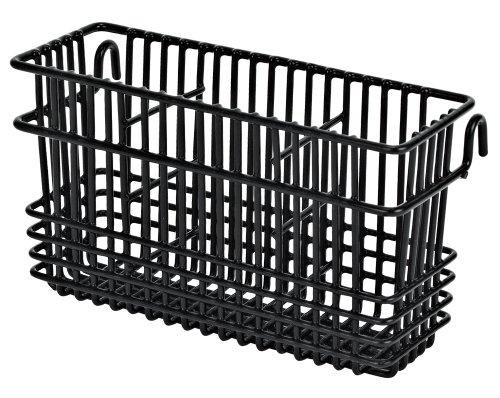 Utensil Drying Rack - 3 Compartment (Black) (7.75'L x 2.75'W x 4.25'H)