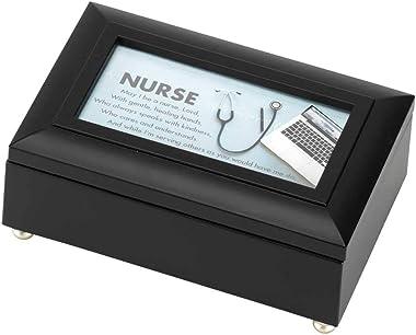 Dicksons A Nurse's Prayer Black 4 x 6 Inch Wood Decorative Music Box
