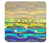 Holomarks 112 etichette ologramma con numeri di serie. Adesivo di garanzia 18 x 18 mm