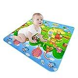 1,8 x 1,2 m doppelseitige Baby-Krabbelmatten, faltbare Cartoon-Baby-Kinderzimmer-Teppiche, Baumwolle, rutschfeste Spielmatte für Baby, Kinderzimmer, Bodenmatte, Dekoration. -