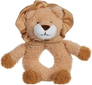 Apricot Lamb Baby Lion Soft Rattle Toy, Plush Stuffed Animal for Newborn Soft Hand Grip Shaker Over 0 Months (Brown Lion, ...