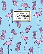 18 Month Planner 2020-2021: Nifty Flamingo & Pineapple Weekly Planner & Calendar with Motivational Quotes - Pretty Monthly Spread View Organizer & Agenda with To-Do's, Notes & Vision Boards