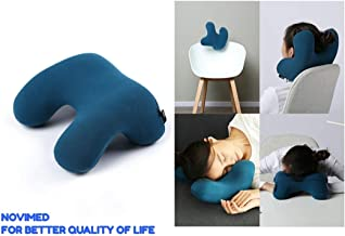NOVIMED ِAdvanced Travel Neck Pillow with Carry Bag - Memory Foam Travel Pillow for Airplanes Car Camping Office School, Head Neck Nap Pillow - Travel accessories