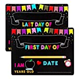 Hohomark First Day and Last Day of School Chalkboard Sign,9'x12' Back to School Board Double Sided First Day of School Photo Prop Sign for Kids,Girls & Boys
