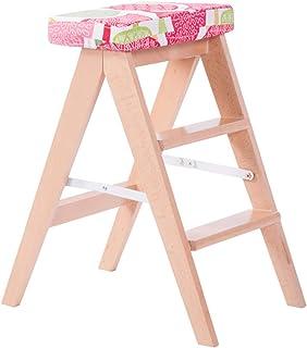 Muebles Sillas Escalera de Mano para niños Cocina Taburete de Madera Maciza Plegable Taburete Plegable de casa Silla Ascendente para Adulto Silla de Aumento de Estudiantes Silla