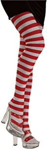 Ladies Red & White Striped Tights by Rubie's Costume Co. - One Size