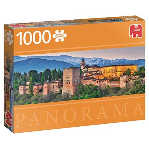 Jumbo pcs Panorama Alhambra, Spain, Puzzle de 1000 Piezas (618574)