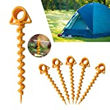 RecoverLOVE 10 PCS Spiral Ground Anchor, Ground Anchor Tent Screw Tent Stakes for Trampolines,...