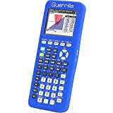 Guerrilla Silicone Case for Texas Instruments TI-84 Plus CE Color Edition Graphing Calculator With Screen protector and Graphing Ruler, Blue