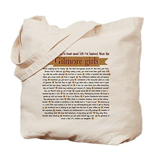 CafePress–Gilmore Girls Life Lessons Tasche–Leinwand Natur Tasche, Reinigungstuch Einkaufstasche