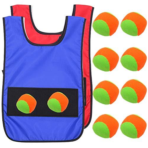 Gilet Appiccicosi - ZSWQ 12 pezzi giochi Dodgeball, tag giubbotti appiccicosi per bambini...