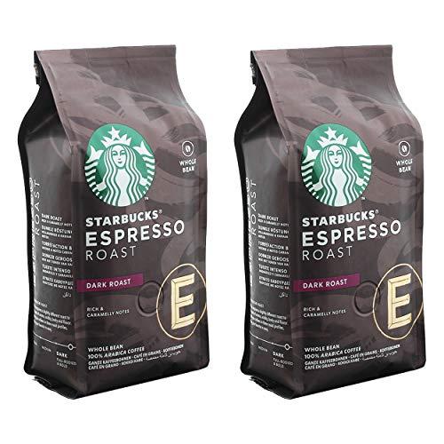 Starbucks Espresso Roast Kaffee, 2er Set, Dark Roast, Röstkaffee, Vollmundig, Ganze Bohnen, 2 x 200 g