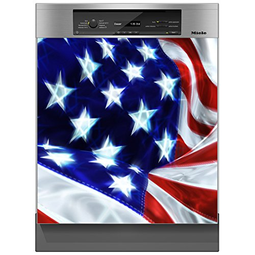 SHIRT-TO-GO Aufkleber für Spülmaschinen Geschirrspüler - Motiv USA