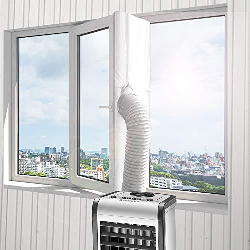 Guarnizione per finestre per condizionatori mobili e asciugabiancheria, aria condizionata, asciugatrice, adatto a qualsiasi condizionatore d'aria e a tutte le dimensioni di tubi, 400 cm