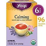 Yogi Tea - Calming - Helps Soothe Mild Tension - 6 Pack, 96 Tea Bags Total