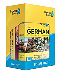cheap Rosetta Stone Learn German Bonus Package (24-month subscription + lifetime download + book package)