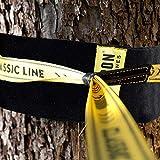 Gibbon Slacklines Treewear, Baumschutz, schwarzer Filz mit Klettverschluss mit gelbem Logo, Länge: 100 cm, Breite: 16 cm, Schutz für Band und Baum, S - 2