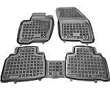 Rezaw-Plast Alfombrillas de Goma Compatible con Ford Edge II (Desde 2016) + Limpiador de Plasticos (Regalo)   Accesorios Coche Alfombrilla Suelo