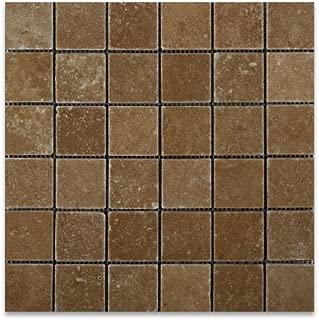 Noce Travertine 2 X 2 Tumbled Mosaic Tile - 6