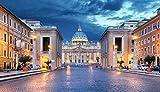 Puzzles para Adultos Rompecabezas de 1000 Piezas, Educativo Intelectual Descomprimiendo Juguete Divertido Juego Familiar Arquitectura del Vaticano de Roma
