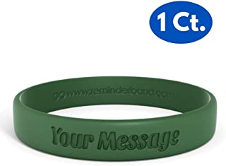 Reminderband Classic Custom 100% Silicone Wristband - Personalized Silicone Rubber Bracelet - Customized, Events, Gifts, Support, Causes, Fundraisers, Awareness - Men, Women, Kids