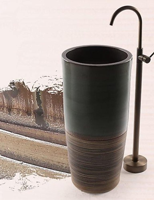 Badewannenarmaturen - Antik - Bodenstand - Messing ( Antikes Messing )