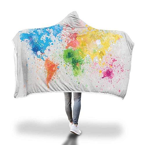 ASDFG Star Hooded Deken Dikke Mantel Magic Napping Service Sofa Bed Vliegtuig Reisdeken Deken Gooi Deken Warm