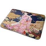 AoLismini Alfombra de baño Antideslizante de Geisha Japonesa para niña Alfombra de Puerta Delantera de Espuma de Memoria Alfombras de baño Alfombra para Interior al Aire Libre