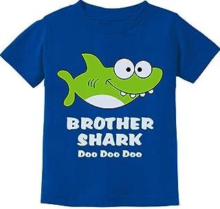 Tstars - Brother Shark Doo Doo Gift for Big Brother Toddler Kids T-Shirt