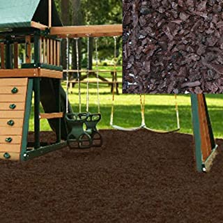KIDWISE Swing Set Playground Rubber Mulch 75 Cu.Ft. Pallet-Chocolate Brown