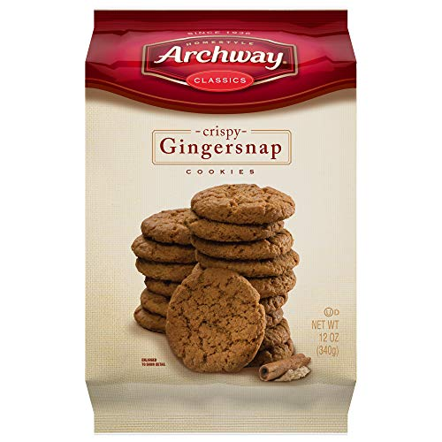 Archway Cookies Gingersnap - Bag Cookies 12 oz. 6 per case
