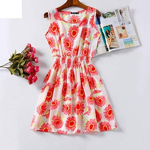 LYQLL dames strandjurk zomerjurk Bohemian chiffon mini-jurk