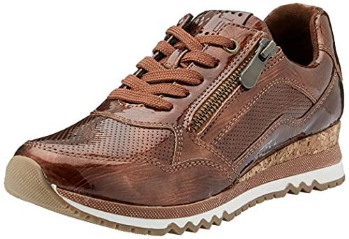 MARCO TOZZI Damen 2-2-23782-27 Sneaker, Zapatillas Mujer, Patente en Bronce, 37 EU