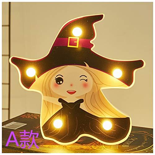 Shirt Luv Halloween Modeling Light Battery Box Light String Decoration Light Ghost Kitchen Dining Bar Accessories
