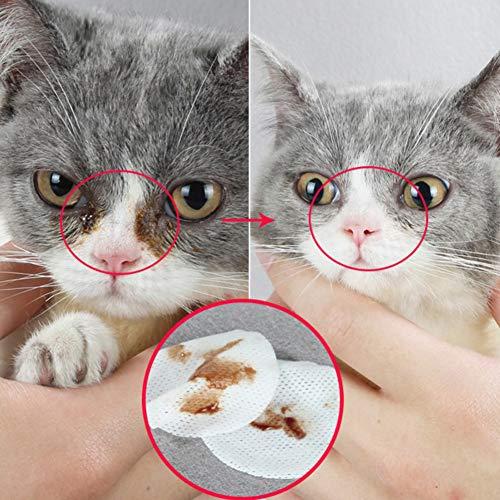 Alician Reinigungstücher für Hunde, Augen, Katzen, nicht reizend, 120 Stück