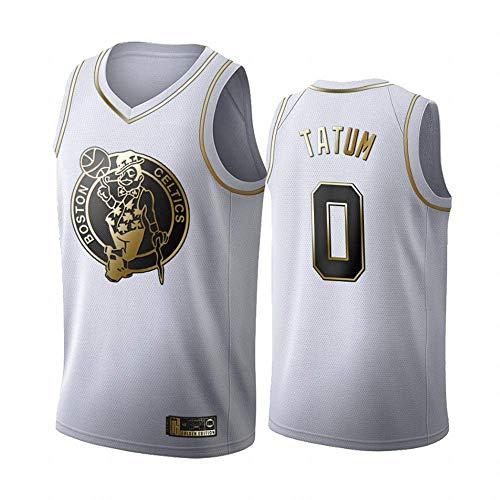 XSJY NBA Boston Celtics 0# Jayson Tatum Jersey, Tapas Frescas Transpirable De Tela Bordado Retro De Malla Sin Mangas Alero Deportes, Baloncesto Unisex Camiseta De La Fan
