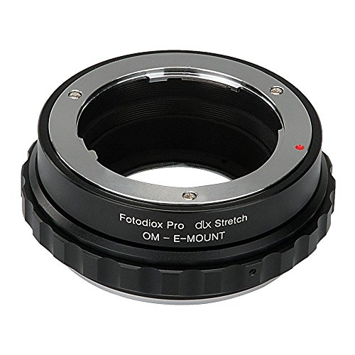 Fotodiox DLX Stretch lens Mount Adapter Olympus Zuiko (OM) 35mm SLR lens Compatibel met Sony Alpha E-Mount Mirrorless Camera Body with Macro Focusing Helicoid and Magnetic Drop-In filters