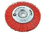 Spazzola in nylon grossolana spazzola per la pulizia del disco adatto per Bosch GWS 10,8 12 V 76 accessori acciaio inox legno Würth Berner BTI