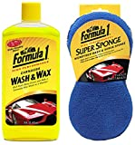 Formula 1 Car Wash Kit (Wash & Wax 473ml, Super Sponge)