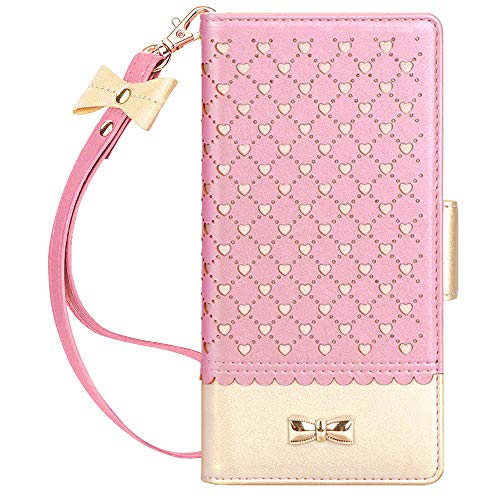 Jasilon Samsung Galaxy Note 10+ Plus Case/Note 10+ Plus 5G Case, [Deluxe Love] Flip Folio Wallet Case with [Mirror] [Kickstand] Leather case for Galaxy Note 10 Plus/10 Plus 5G 6.8''(2019)-Rosegold