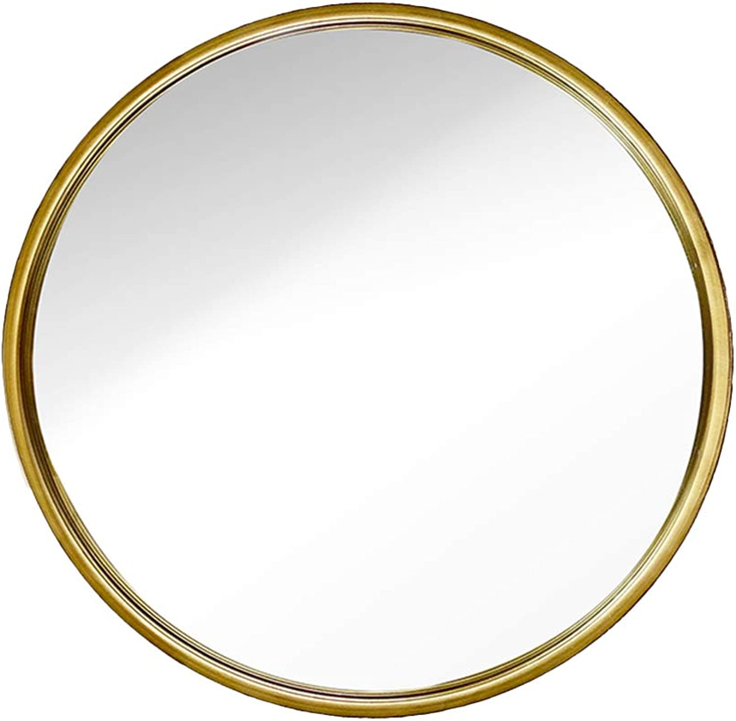 Mirror Iron Wall Hanging Bathroom Wall-Mounted Bathroom Mirror Round Hanging Mirror Bathroom Mirror (color   gold, Size   50  50cm)