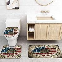 ZGDPBHYF 浴室用アップホームバスマットひまわり旗英語アルファベットレトロスタイルプリントバスマットシャワーフロア用カーペットバスタブマット