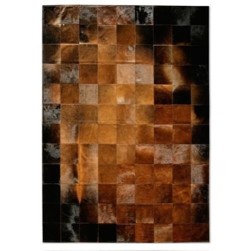 Vip Leather Nueva Alfombra de Piel de Vaca Patchwork. Diseno Exclusivo. Codigo Ar126 (120 cm x 180 cm)