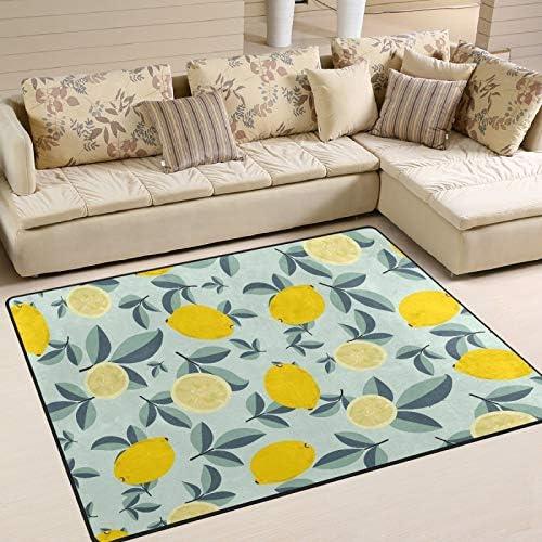 MNSRUU Area Rug Tropical Yellow Carpet Lemons Fruit Limon Max 83% OFF Entry Industry No. 1