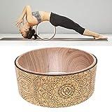 Rainai Yoga Wheel Natural Cork Yoga Auxiliary Wheel Massage Wheel Back Bend Artifact Pilates Yoga Circle benchmark