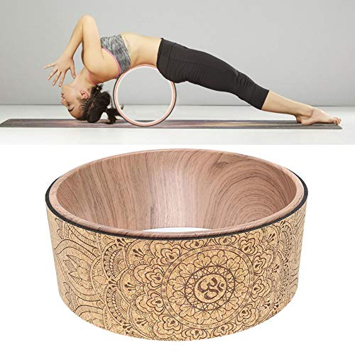 Affordable Rivetino Yoga Wheel, Atural Cork Massage Wheel, Most Comfortable Strongest Yoga Whee, for...