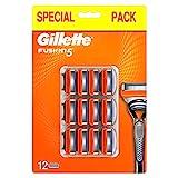Gillette Fusion5 Lamette di Ricambio per Rasoio da Uomo, Rasatura Scorrevole, 12Testine...