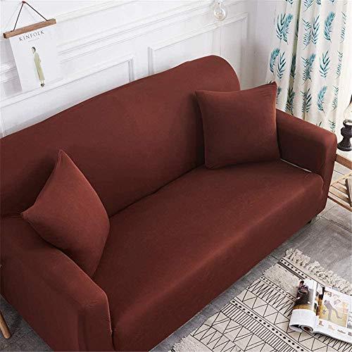 HFTYCC Fundas para sofá Fundas Simples Europeas para decoración del hogar Juegos de sofás Tejido elástico Antideslizante Protector para Mascotas Fundas para sillas para sofás-2 plazas