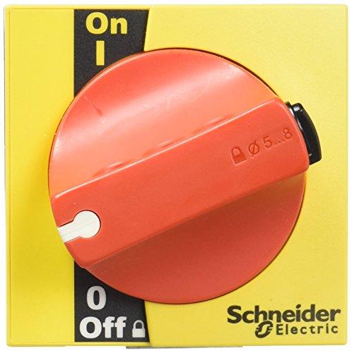 Schneider Electric LV428942 Mando Rotativo Prolongado Frontal INS 40, 160, Maneta Roja